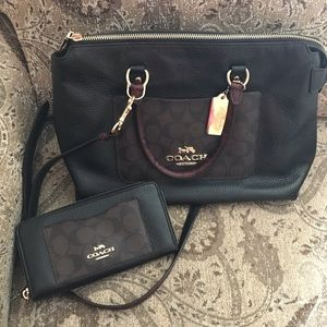 Coach Bags - Coach Leather Satchel And Wallet